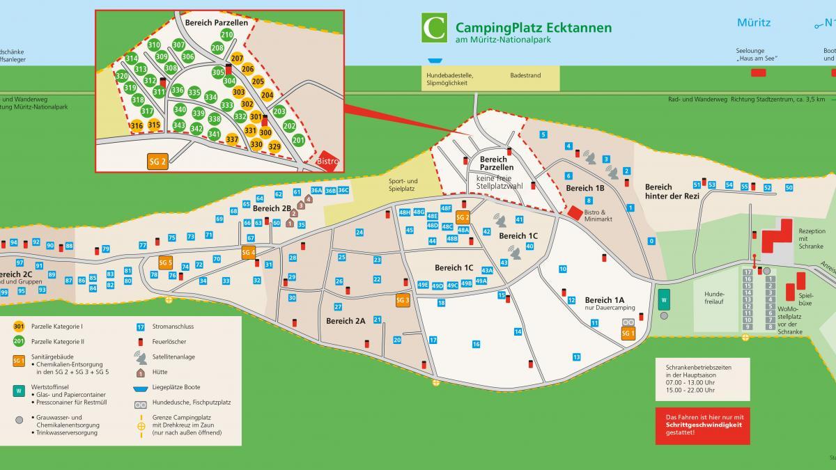 Lageplan CampingPlatz Ecktannen